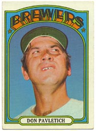 1972 Topps Baseball Cards      359     Don Pavletich